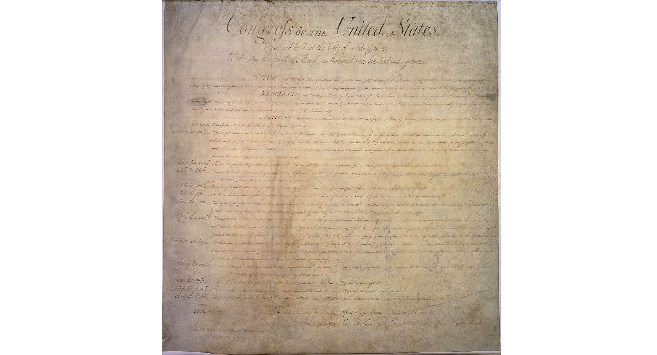 Constitution 101: The Bill of Rights